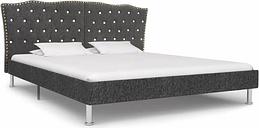vidaXL Bed Frame Dark Grey Fabric 180x200 cm 6FT Super King