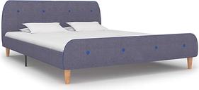 vidaXL Bed Frame Light Grey Fabric 180x200 cm 6FT Super King