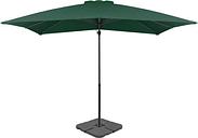 vidaXL Outdoor Umbrella with Portable Base Green