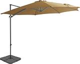 vidaXL Outdoor Umbrella with Portable Base Taupe