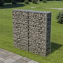 vidaXL Muro de gaviones con cubiertas acero galvanizado 100x20x100 cm
