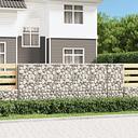 vidaXL Muro de gaviones con cubiertas acero galvanizado 300x50x100 cm