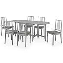 vidaXL Juego de muebles de comedor 7 piezas MDF gris