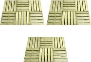 vidaXL 18 pcs Decking Tiles 50x50 cm Wood Green