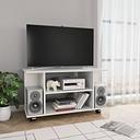 vidaXL TV Cabinet with Castors High Gloss White 80x40x40 cm Chipboard