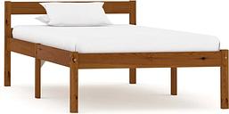vidaXL Bed Frame Honey Brown Solid Pine Wood 90x200 cm