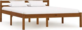 vidaXL Bed Frame Honey Brown Solid Pine Wood 140x200 cm