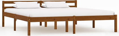 vidaXL Bed Frame Honey Brown Solid Pine Wood 180x200 cm 6FT Super King