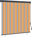 vidaXL Outdoor Roller Blind 170x250 cm Yellow and Blue