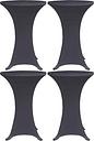 vidaXL Housses de table extensible 4 pcs 70 cm Anthracite