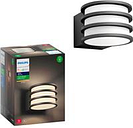 Philips Hue Lucca Outdoor LED Wall Lantern Sconce with Wireless A19 Smart E26 base Light Bulb