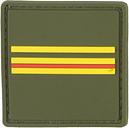 Distintivo de grado Francia Major verde oliva a colores