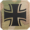 LaserPatch Laser Cut IR Patch Eisernes Kreuz multicam