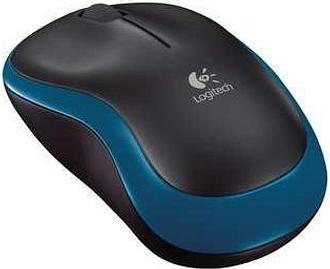 Logitech Wireless Mouse M185 in Blue & Black