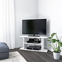Corner TV Unit in White Gloss - 100cm- TV's up to 40