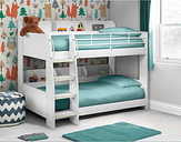 Julian Bowen Domino Kids White Bunk Bed