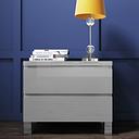 Jenson Grey High Gloss 2 DrawerBedside Drawers