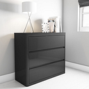 Lexi Grey Gloss Chest of Drawers - 3 Drawers
