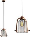 Copper & Glass Dome Pendant Light - Industrial - Cortland