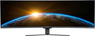 """electriQ 49"""" Double FHD Super UltraWide FreeSync HDR Curved Monitor"""