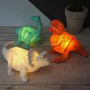 Minilámpara con forma de dinosaurios de origami