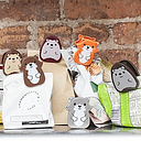 Pinzas para bolsas con forma de animalitos del bosque