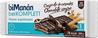 biManán BeKomplett Barrita Crujiente Cereales y Chocolate Negro