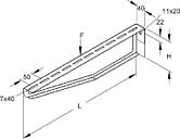 KTAM 500 - Bracket for cable support system 510mm KTAM 500