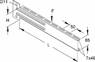 KTUL 400 - Bracket for cable support system 405mm KTUL 400