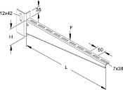 KTU 500 - Bracket for cable support system 510mm KTU 500