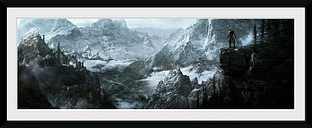 The Elder Scrolls V - Skyrim - Vista Plakat w ramie wielokolorowy