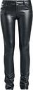 Fashion Victim - Pantalones Piel Imitación - Pantalones de cuero de imitación - Mujer - Negro
