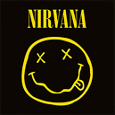 Nirvana Smiley Foto enmarcada negro/amarillo