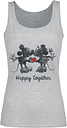 Micky & Minnie - Happy Together - Top - Mujer - Gris Melé