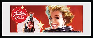 Fallout Nuka Cola Foto enmarcada multicolor