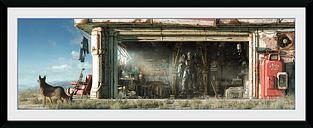 Fallout Garage Foto enmarcada multicolor