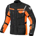 Berik Torino Chaqueta textil impermeable para motocicletas Negro Naranja 48