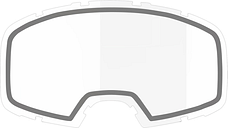 IXS Doppellinse Wechselglas Schwarz