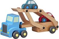 HEMA Camion En Bois Avec Voitures
