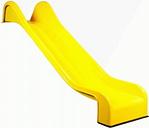 Toboggan jaune portique aires jeux 365cm