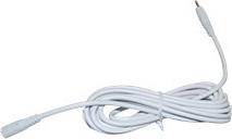 Voeding verlengkabel 5 meter wit (5V)
