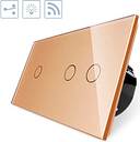 Conmutador táctil + remoto 3 botones frontal golden