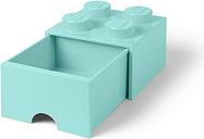 LEGO 4-Stud Aqua Light Blue Storage Brick Drawer