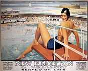 A1 Poster. 'New Brighton and Wallasey', LMS poster, 1923-1947