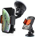 Support Voiture Universel pour Smartphone / Tablette - Orange / Noir