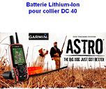 Batterie Lithium-Ion pour collier DC40 - Garmin