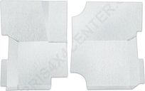 Jeep Warrior Floor Board, Brushed Aluminum, Pair | 1987-1995 Wrangler YJ, WAR60907