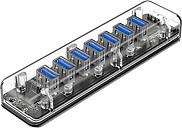Orico F7U High-Speed Transparent USB 3.0 Hub - 7 ports