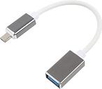 Cavo Adatttore MicroUSB / USB OTG - 16cm - Bianco