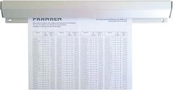 Aluminium-Papierklemmschiene »PKSA50« 50 cm